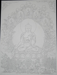 buddha studying