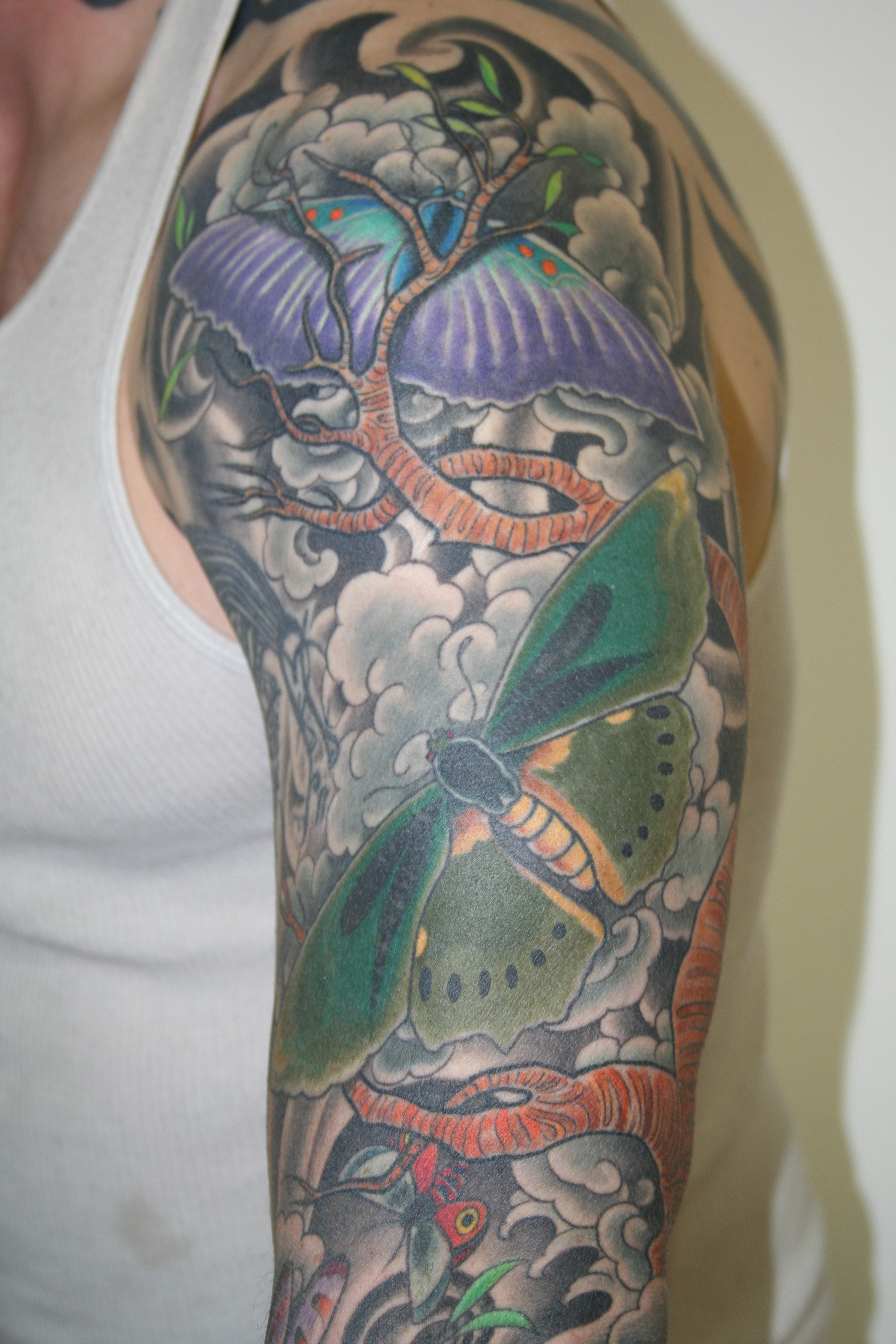 butterflies sleeve   Tattooing & Art by Yoni Zilber