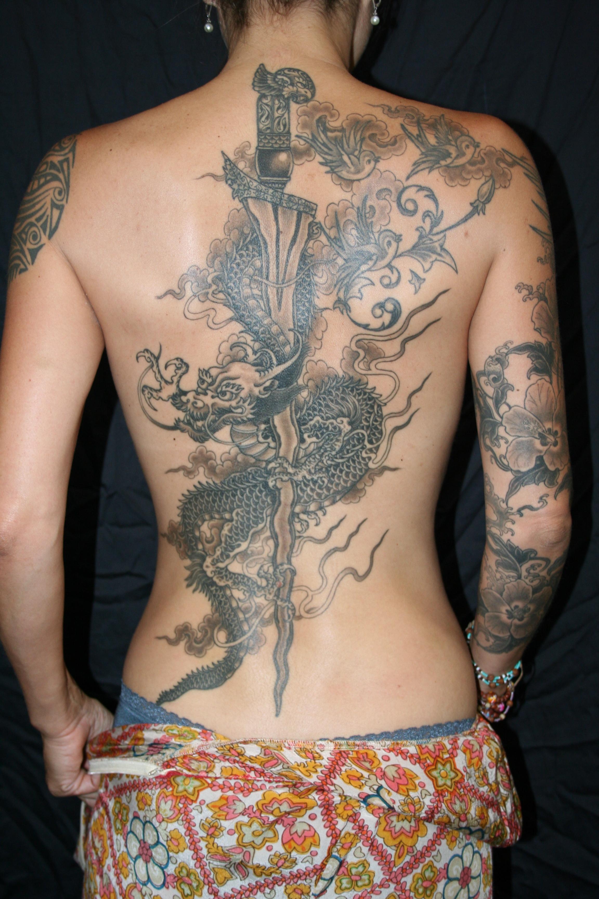 Indonesian Dragon Tattoo